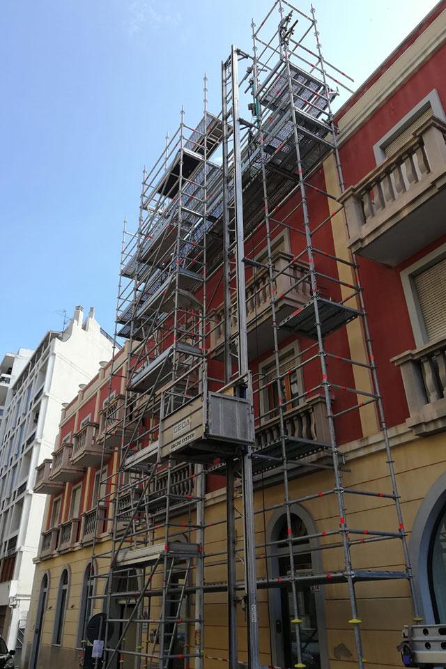 Noleggio montacarichi da cantiere Napoli